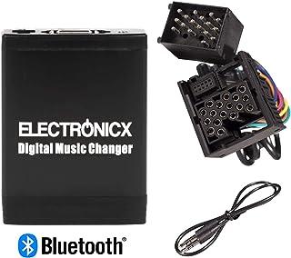 Brillance Bluetooth Changeur de CD Adaptateur auxiliaire MP3/USB de Chargement Compatible pour I-Phone Android pour BMW Rond 17/Broches X5/X3/E46/E39/E36/ Bta-bmw1