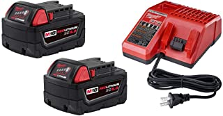 Milwaukee 48-59-1850P M18 18-Volt Lithium-Ion Starter Kit with Two 5.0 Ah Battery Packs and Charger