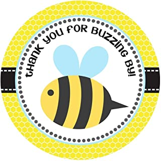 Bee Thank You Sticker Labels for Children Kids Birthday or Baby Shower Party Favors - Set of 30