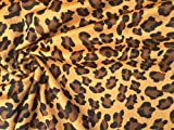 Velboa Fell Leopard Animal Print Velours Stoff Material