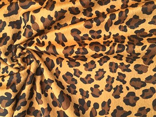 HomeBuy VELBOA FUR Luipaard Animal Print Velours Stof Materiaal Knuffel Zacht -59'' breed *JAGUAR* (verkocht per meter)