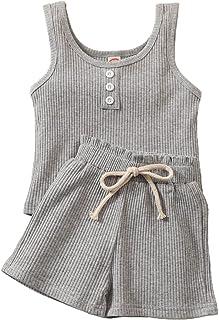 Toddler Baby Summer Clothing Set, 2 Pcs Shorts...