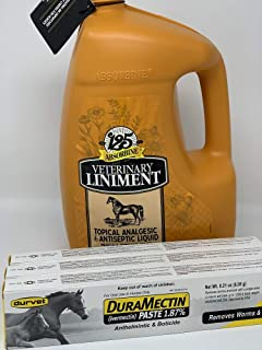 WF Young Durvet Absorbine Liniment and dewormer Gallon Plus 3 Pack Dewormer Fall Sale