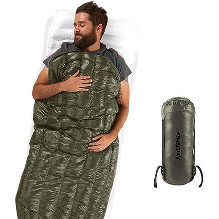 Naturehikeアップデート版 高級ダウン 封筒型 寝袋 超軽量 オールシーズン 防水 2人用に連結可能 圧縮袋+メッシュ収納袋付