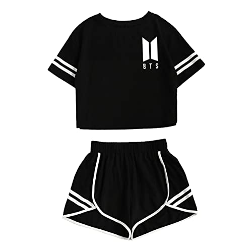fe90153f2c48a1 CHAIRAY BTS Love Yourself Shorts and Tee Set Jimin Jungkook V T-Shirt Suit