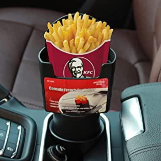TRUE LINE Automotive Car Cup French Fry Holder Fast Food Drink Beverage Cell Phone Mount
