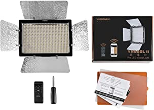YONGNUO YN600II YN600L II Pro LED Video Light/ LED Studio Light with 5500K Color Temperature and Adjustable Brightness for the SLR Cameras Camcorders, like Canon Nikon Pentax Olympas Samsung Panasonic JVC etc.