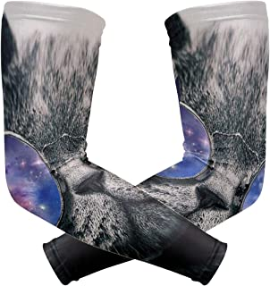 Arm Sleeves Cute Solar System Cat Mens Sun UV Protection Sleeves Arm Warmers Cool Long Set Covers