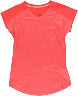 The North Face Dynamix Shirt - Short-Sleeve - Women's Fiery Coral Heather/Fiery Coral, S