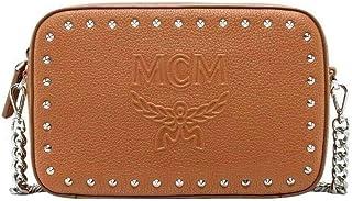 MCM Women's Beige Chanswell Camera Park Avenue Leather Medium Crossbody Bag MYZ9ACZ80BC001