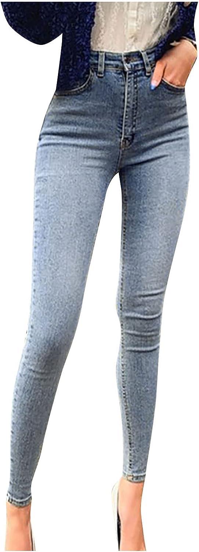Women's Ripped Boyfriend Jeans Skinny High Waist Denim Ankle Jeans Stretch Butt Lift Jeans Slim Fit Jean Pants