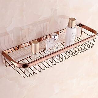 Étagère de salle de bain Rose or laiton douche caddy salle de bain étagère de rangement organisateur cuisine support panie...