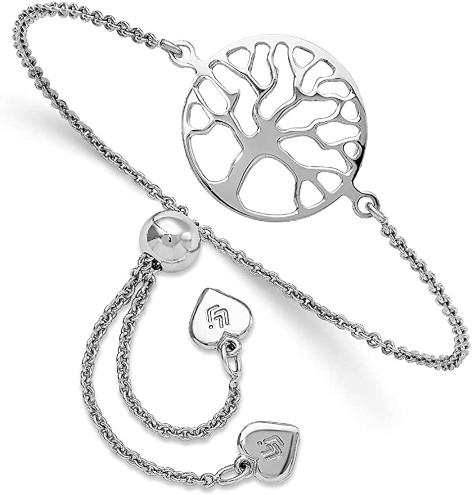 Diamond2Deal Max 85% OFF 925 In a popularity Sterling Silver Tree of Bracele Adjustable Life