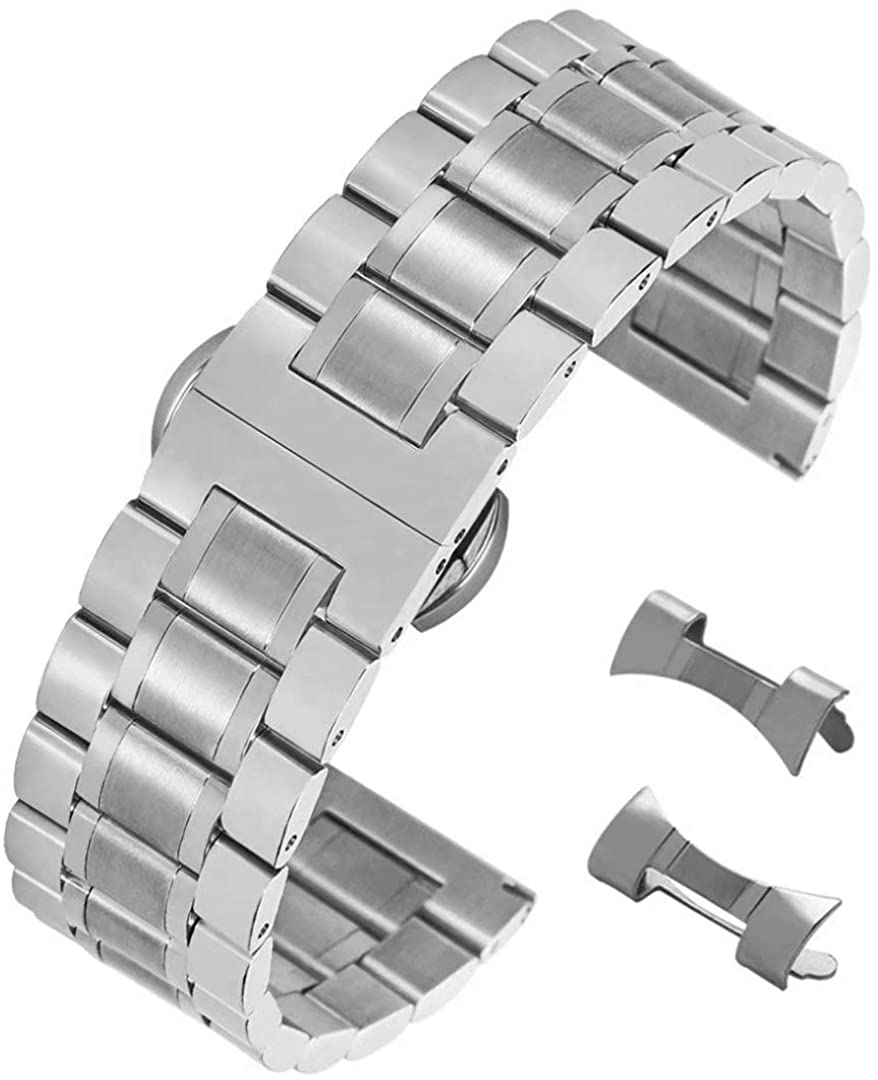 Stunning Brushed Stainless Steel 5 ☆ very Max 68% OFF popular Watch Replacement Strap St with