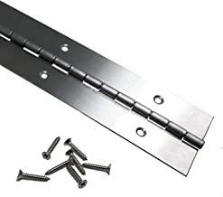 Antique Bronze Heavy Duty .060 Leaf Thickness 1-1//2 x 48 Continuous Piano Hinge Matching #6 x 3//4 Screws Included