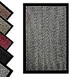 Bear & Panda - Dirt Trapper Door Mat - Indoor/Outdoor non-slip Washable Barrier Door Mat, Heavy Duty Entrance Rug Shoes Scraper, Super Absorbent Front Doormat Carpet (Grey, 40 x 60 cm)