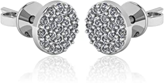 925 Sterling Silver & Pavé-Set Cubic Zirconia Petite Stud Earrings (Choice of Shapes)