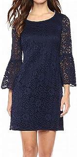 NINE WEST Women's 3/4 Bell Sleeve T-shirt Dress Casual Night Out Dress