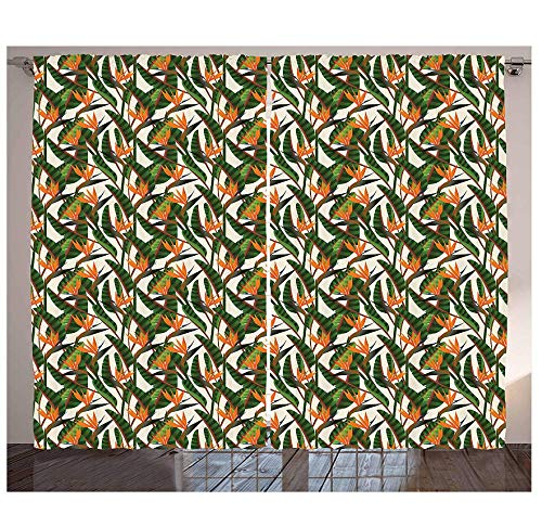 MUXIAND Botanische gordijnen Zuid-Afrikaanse meerjarige planten exotische zomerjungle geïnspireerde moderne illustratie woonkamer slaapkamer raam