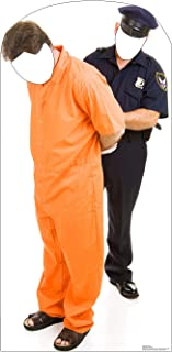 Advanced Graphics Inmate and Police Officer Stand-in Life Size Cardboard Cutout Standup