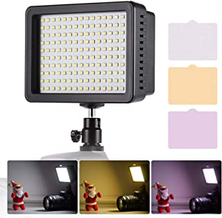 Andoer Portable 160pcs LED Video Light Lamp 5600K Color Temperaure with Dimmable Switch Ultra Bright Camera Lighting Panel...