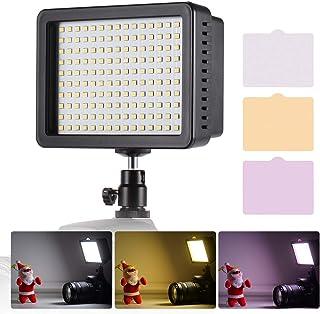مصباح إضاءة فيديو محمول من Andoer من 160 قطعة LED 5600K درجة حرارة اللون مع مفتاح عاكس للضوء لوحة إضاءة كاميرا ساطعة للغاي...