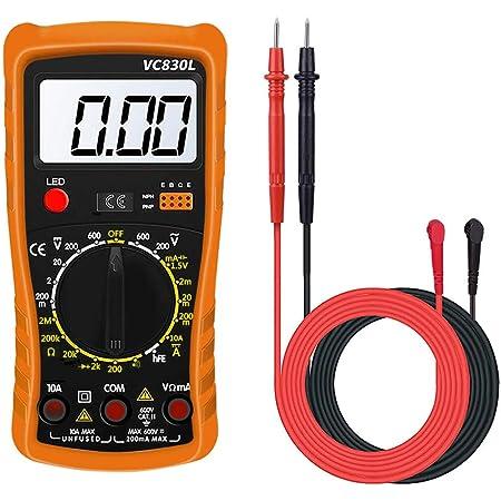 Digital Multimeter Ac Dc Voltmeter Amperemeter Messgeräte Widerstand Tester Tragbare Elektronisches Kapazitanz Messgerät Spannungserkennung Gerät Automatisch Durchgangsprüfer Mit Lcd Display Baumarkt