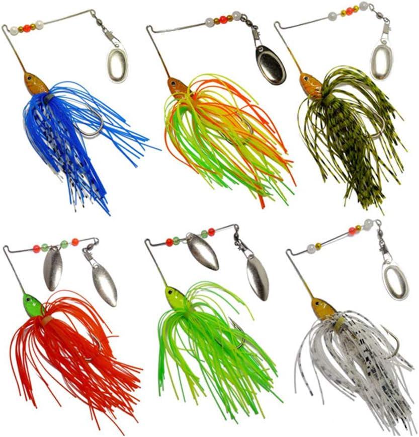 JRLGD Fishing Hard Spinner Baits Metal kit Lures Baltimore 55% OFF Mall Jig Spinnerbait
