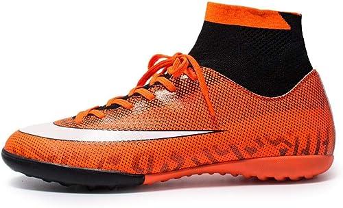 YQQLM Football,La Jeunesse en Plein Air Haute Aide Cassé Ongles Chaussures De Football Chaussures De Formation De Gazon Artificiel