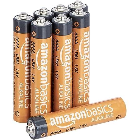 Amazon Basics - Batterie alcaline AAAA, 1.5 volt, per uso quotidiano, confezione da 8 (l'aspetto potrebbe variare dall'immagine)
