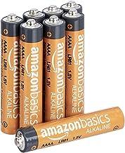 Amazon Basics - Paquete de 8 pilas alcalinas AAAA de alto rendimiento, vida útil de 3 años