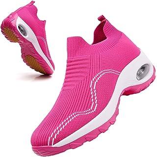 Women Athletic Slip on Walking Shoes mesh Sock Loafers