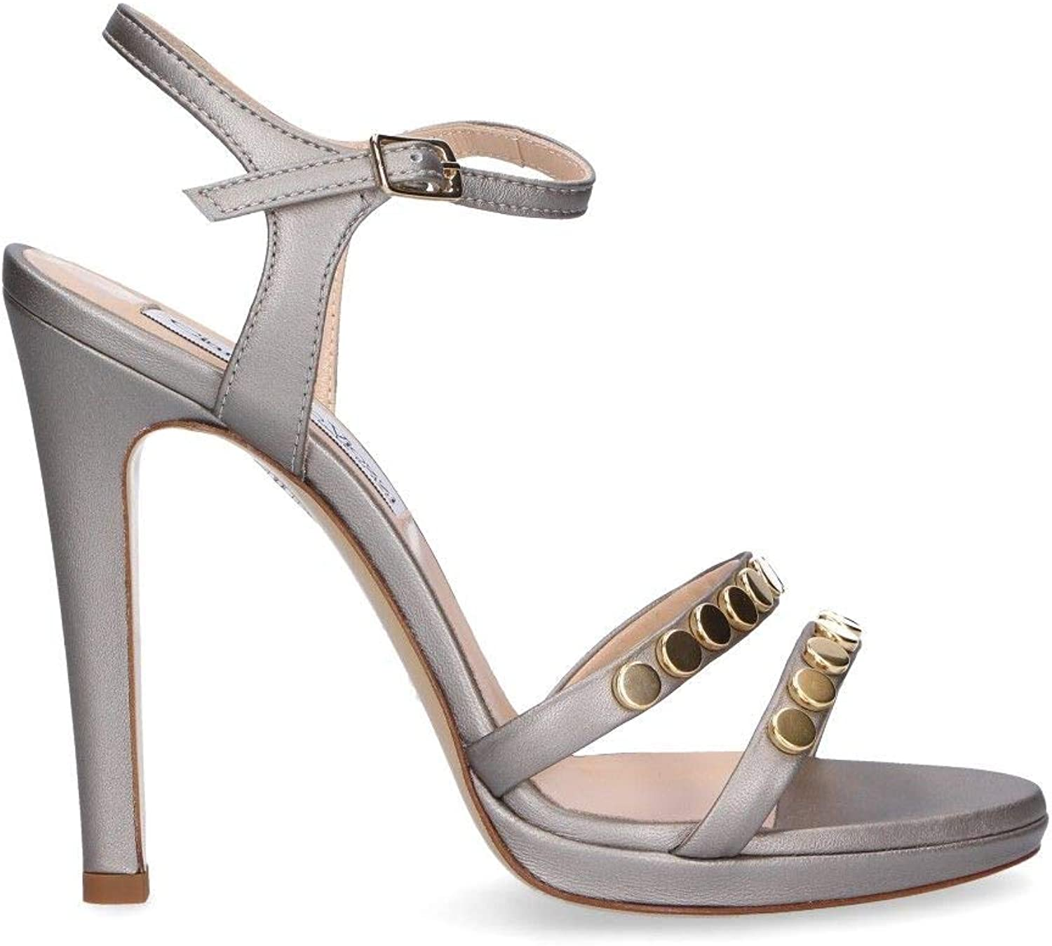GIAMPAOLO VIOZZI Women's GL537A Silver Leather Sandals