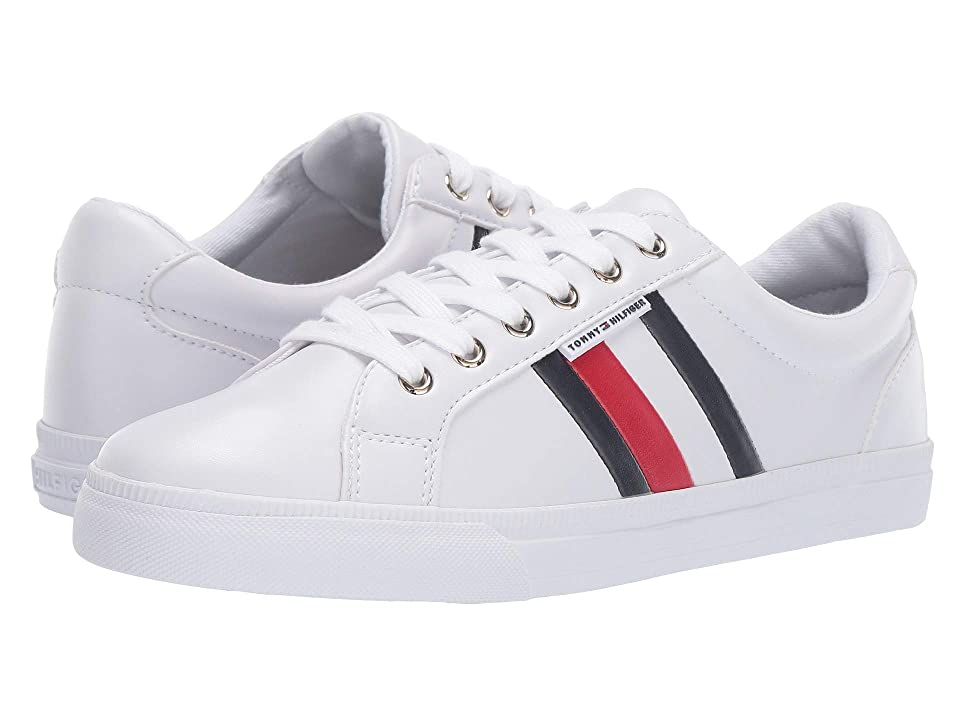 Tommy Hilfiger Lightz (White/Marine/Tropic Red) Women