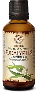 Aceite Esencial de Eucalipto 50ml - Eucalyptus Globulus - 100% Puro y Natural - se Utiliza para Aliviar la Tensión - Relajarse - Mejor para la Belleza - SPA - Baño - Sauna - Aromaterapia - Masaje