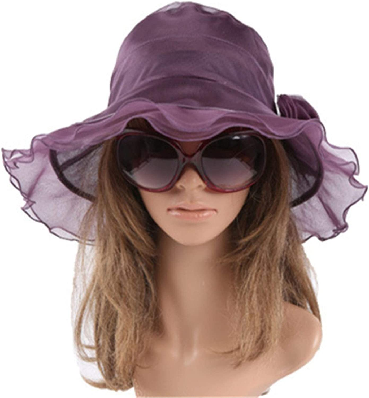 Azhuang 100% Silk Hats Sun Hat Women Summer Beach Sunscreen Caps for Women Fashion Apparel Accessories