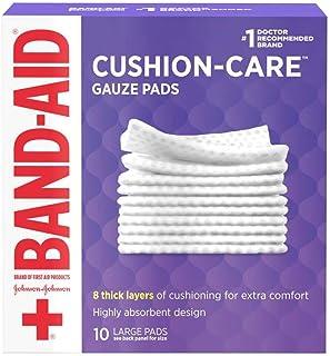 نوارهای گاز بزرگ مارک Band-Aid ، 4 اینچ در 4 اینچ ، 10 تعداد (بسته 6 عددی)