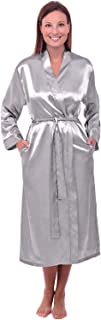 Women's Lightweight Satin Robe, Long Kimono