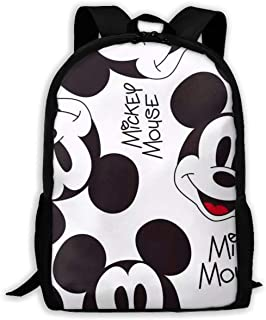 Custom Mickey Mouse Smile Casual Backpack School Bag Travel Daypack Gift