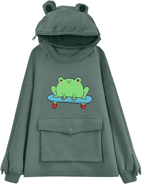 ORT Hoodies for Women Pullover, Dinosaur Hoodie for Women Long Sleeve Cute Kawaii Oversized Sweatshirt Hoodies Zip Up Tops