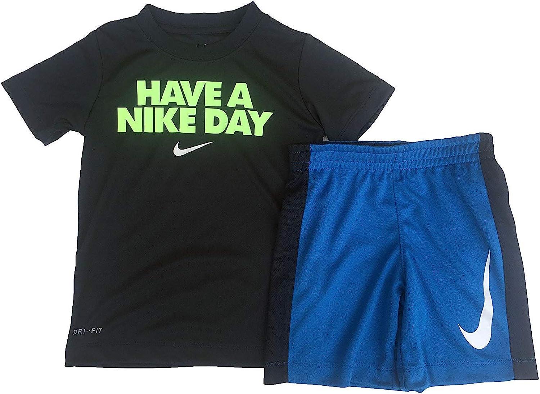 Ranking TOP18 Nike Boy`s Dri-Fit T-Shirt Shorts Set Piece 2 online shopping 86D622 Obsidian