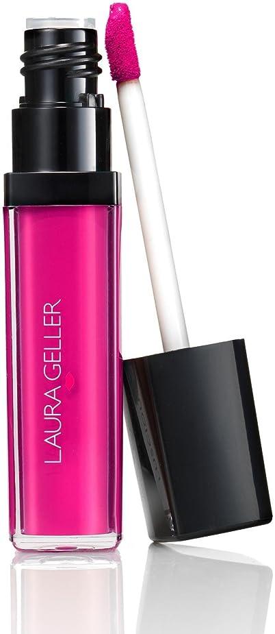 滑る香ばしい受け皿ローラ?ゲラー Luscious Lips Liquid Lipstick - # Fuschia Fever 6ml/0.2oz並行輸入品