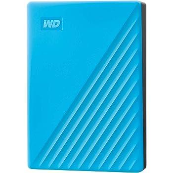 WD ポータブルHDD 4TB USB3.0 ブルー My Passport 暗号化 パスワード保護 外付けハードディスク / 3年保証 WDBPKJ0040BBL-WESN