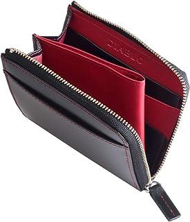 [ディアブロ] DIABLO 折り財布 メンズ 馬革 牛革 L字ファスナー 小さい財布 コンパクト レザーウォレット mlb 【KA-512】