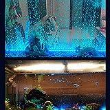 Acuario LED burbuja luz tira de color cambiante burbuja iluminación impermeable pecera decoración baja energía LED