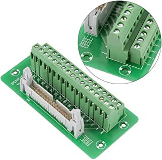 PLC Breakout Board IDC34P 34Pin Male Header Breakout Board Terminal Block Connector PLC Interface with Bracket