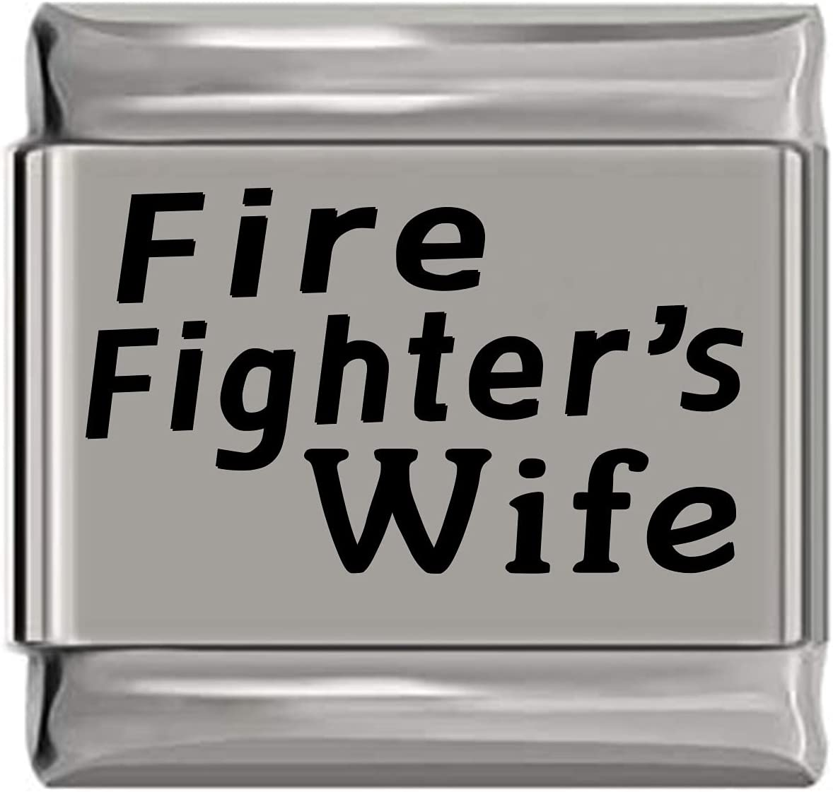 Fire Fighter's Wife Laser Sale Special Price Charm Italian cheap Engraved
