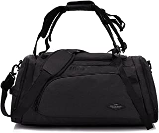 3-Way Fitness Sport 20-35L Gym Bag Travel Duffel Backpack with Shoes Compartment for Women Men Overnight Travel Tote Bag (...