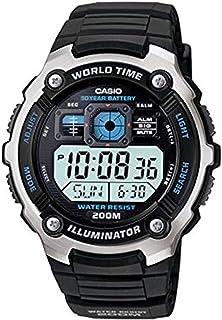 Military Watch Bundle: Casio Men's AE2000W Sport Watch & Cap