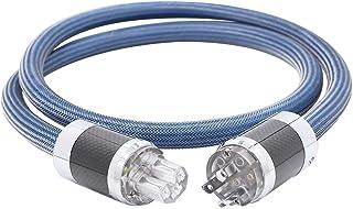 HiFi Audiophile Amplifier Power Cord,Hi End Audio AC Power Cable with Carbon Fiber Rhodium Plated US Plug+IEC320 C13 Conne...